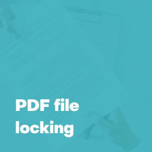 pdf file locking